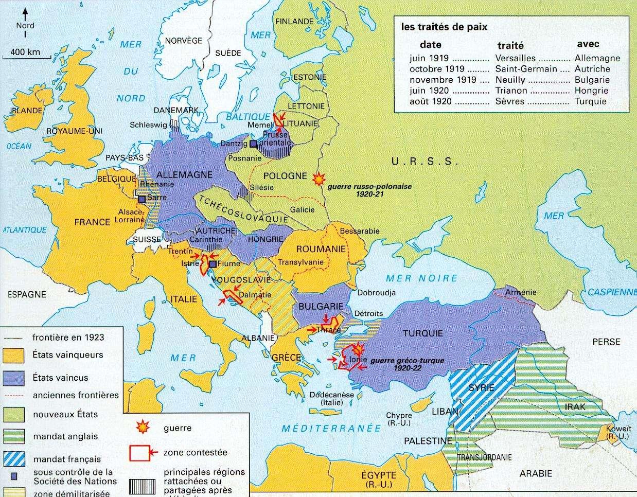 Carte De L Europe En 1923   casamagenta